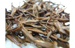 Loose leaf Golden Tipped Yunnan after infusion.