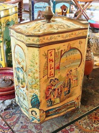 Old Antique Tea Tin