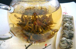 Flowering Tea in Glass Pot