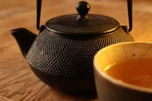 Japanese Teapot and Green Tea