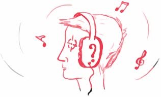Does playing background music improve or impair your focus?