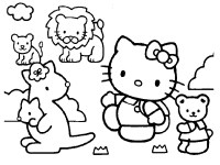 disegni da colorare hello kitty circo animali da colorare
