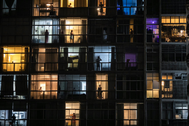 São Paulo, Brazil: Isolation through the lens of a single building, by Victor Moriyama for The New York Times