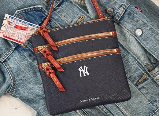 A Dooney & Bourke New York Yankees crossbody and denim jacket.