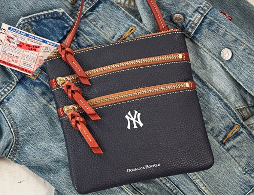 A Dooney & Bourke New York Yankees crossbody and denim jacket.