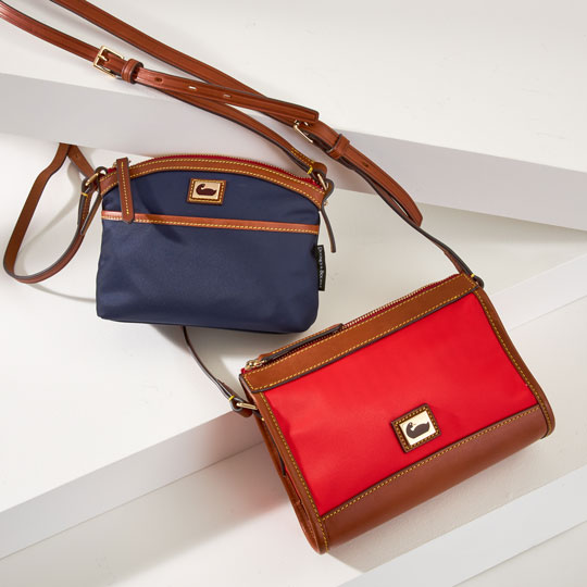 Two crossbody bags from the Wayfarer Collection.