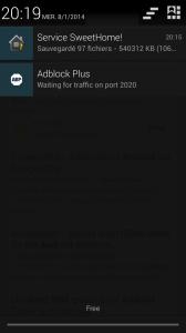 """Synchronisation automatique à la connexion Wifi """"maison"""""""