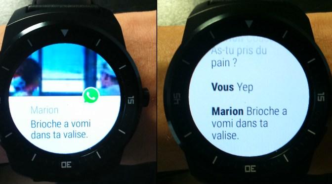 Utilisation de la smartwatch LG G watch R