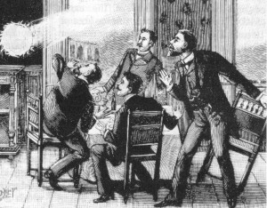 Nineteenth century depiction of ball lightning