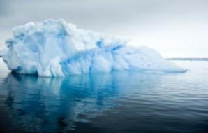 Iceberg floating in the sea.