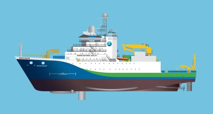 Diagram of CSIRO's future research vessel, the Investigator.