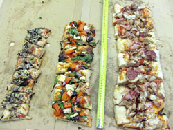 If you have several different sized pizzas, you can compare their areas.