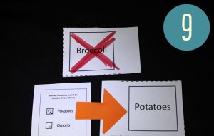 Broccoli has been excluede, so the pballot goes to the second choice, potatoes