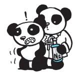 Panda having a mole frozen off by a Dr.