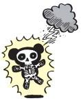 Panda struck by lightning.