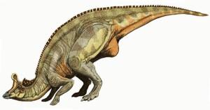 A duck-billed dinosaur.