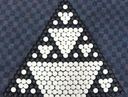 A sierpinski triaingle.