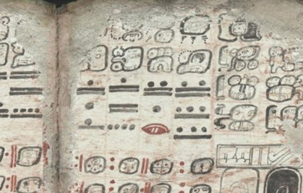 An excerpt from the Dresden Codex.
