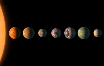 A star and seven planets