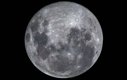 Photograph of the face of the Moon