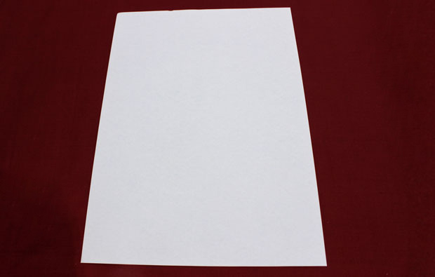 A white piece of paper.