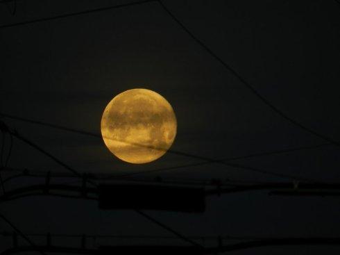 Industrial Moonset