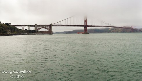 photograph by Doug Couvillion of the San Francisco Bay Bridge with fog above it
