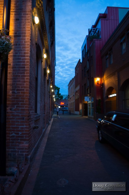 photograph of a limousine in an alley at night by Doug Couvillion