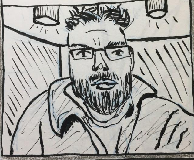 Peter Wilkins comic portrait