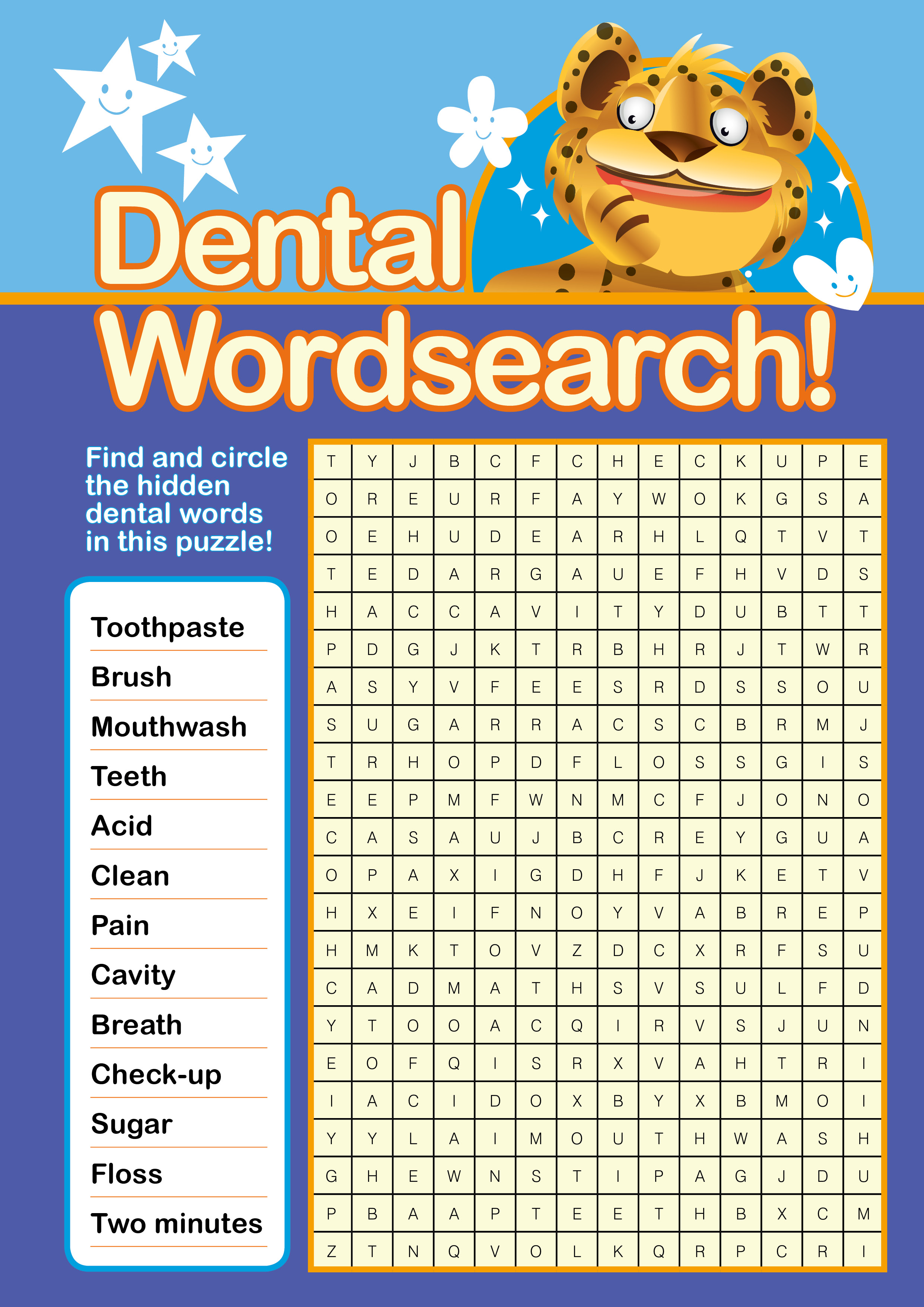 Download Your Free Oral Health Word Search