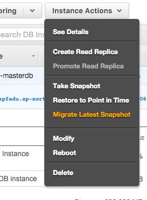 Migrate Lastest Snapshot
