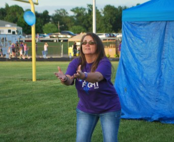 Sharla at the 2014 Henry County, Indiana Relay for Life.