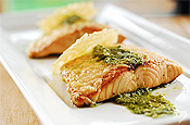 Parmesan Pesto Salmon