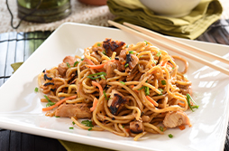 Chicken Yakisoba Noodle Bowl