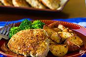 Dream Dinners Parmesan Sage Crusted Pork Chops