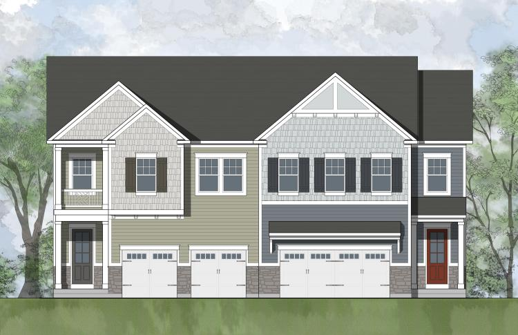 The Christopher A, a paired-villa floor plan featured in the Villas at Potomac Shores in Dumfries, VA.
