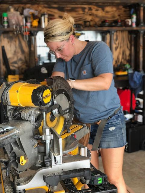 Instagram woodworking sensation Sam Ryan prepares new furniture for a deserving Washington D.C. military family living in a Drees home