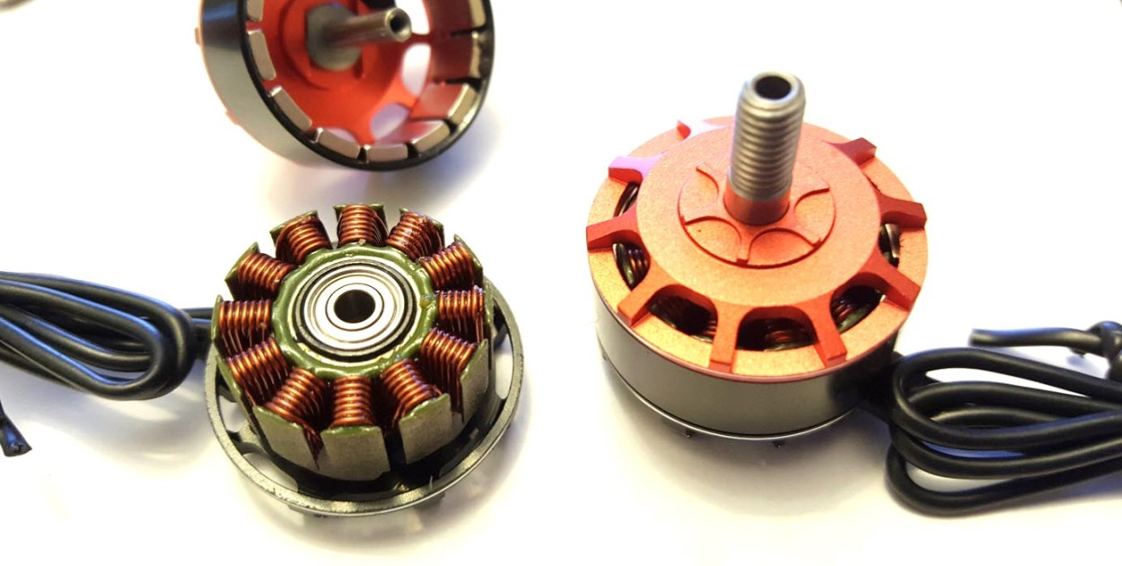 Brushless motor with bell removed