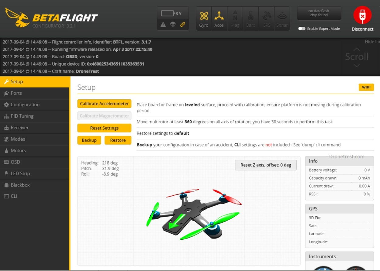 Wizard X220s 👾 Initial Setup Guide in BetaFlight – DroneTrest Blog