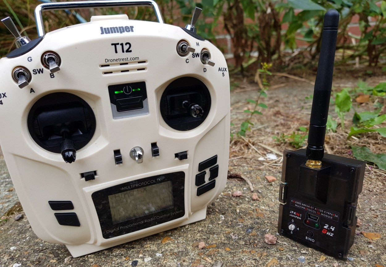 Jumper T12 Radio Review: OpenTX, but small… and cream coloured
