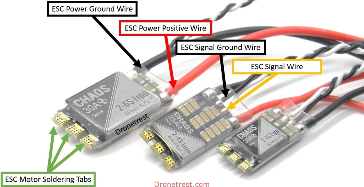 How To Connect Quadcopter Motors and ESC – DroneTrest Blog