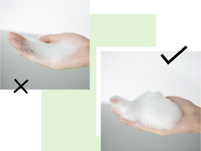Correct way to apply cleanser 1