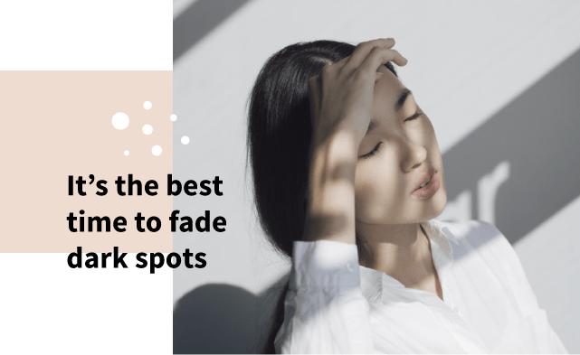 Fade dark spots during sleep
