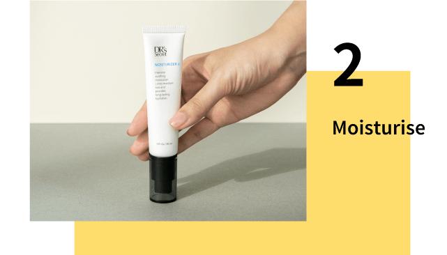 Moisturise to prevent wrinkles