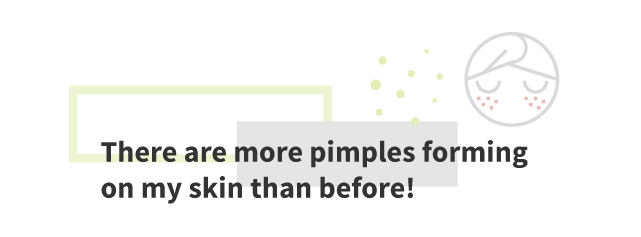 More pimples forming on my skin