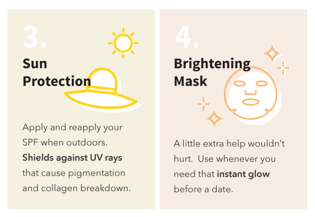 Sun protection and brightening mask