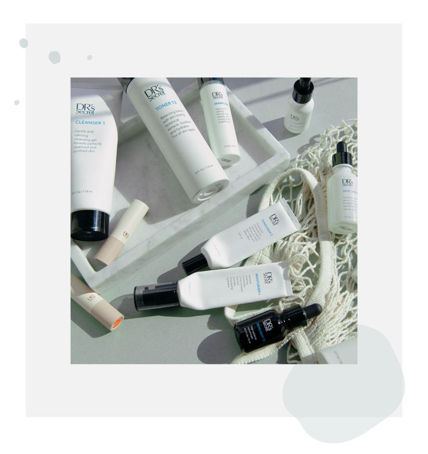 DR's Secret skin care empties
