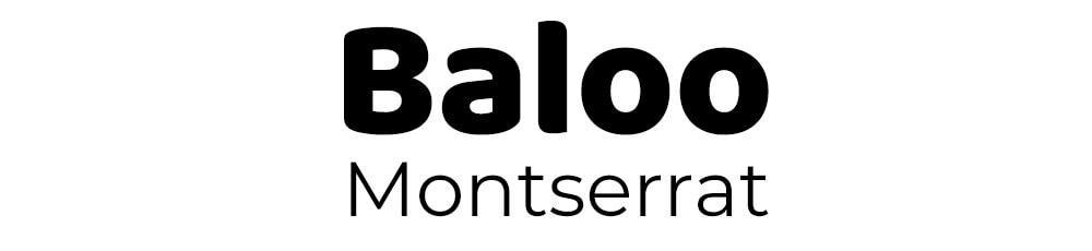 lettertype combinatie-baloo-montserrat