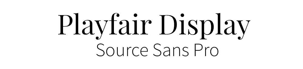 lettertype combinatie-playfair-source-sans