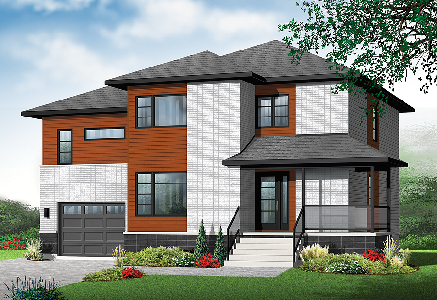 New Contemporary House Plan With 4 Bedrooms And 3